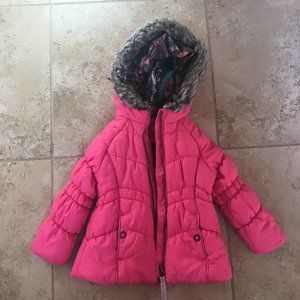 London Fog Girls Size S/4 Puffy Pink Jacket